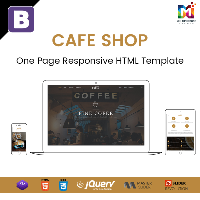 Cafe Shop – One Page Responsive HTML Template