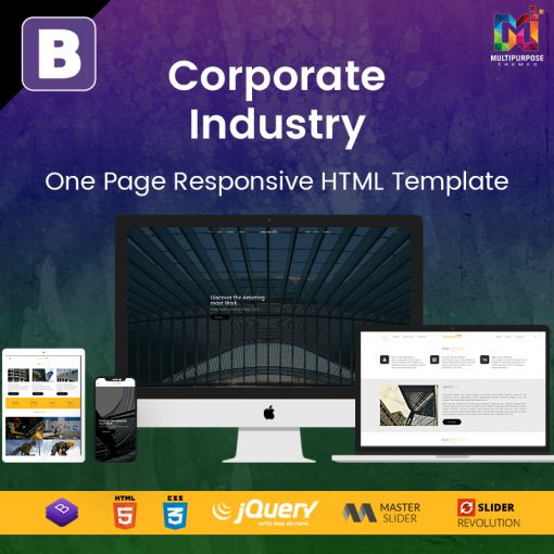 Corporate Industry – One Page Responsive HTML Template