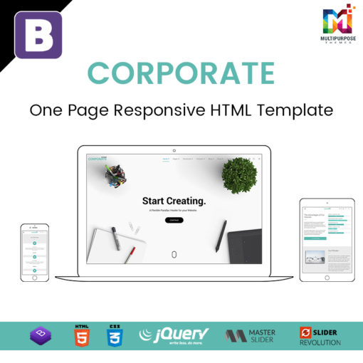 Corporate – One Page Responsive HTML Template