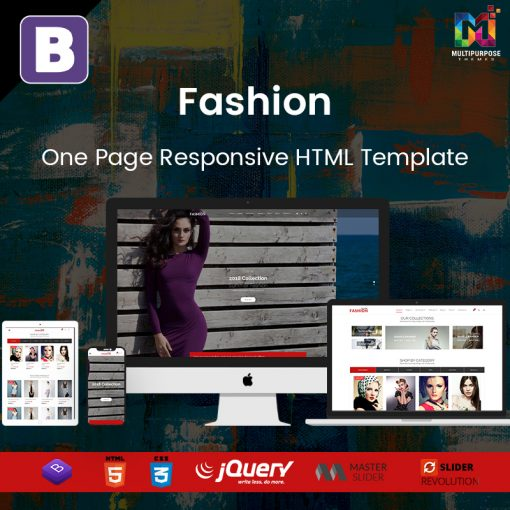Fashion- One Page Responsive HTML Template