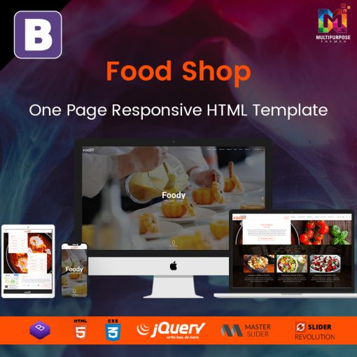 Food Shop – One Page Responsive HTML Template