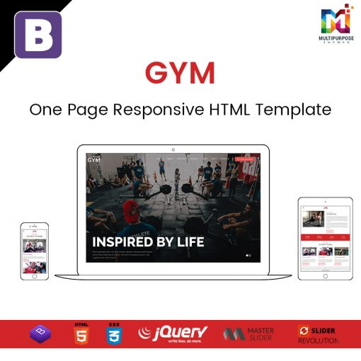 Gym – One Page Responsive HTML Template