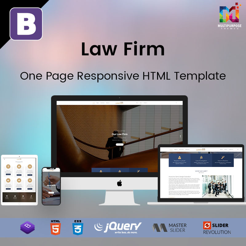 Law Firm- One Page Responsive HTML Template