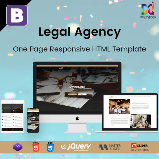 Legal Agency – One Page Responsive HTML Template