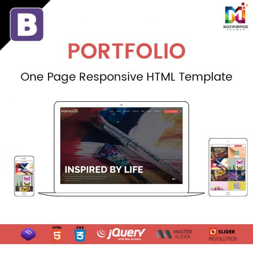 Portfolio – One Page Responsive HTML Template