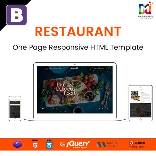 Restaurant – One Page Responsive HTML Template