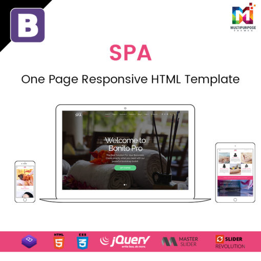 Spa – One Page Responsive HTML Template