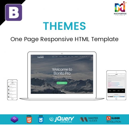 Themes – One Page Responsive HTML Template