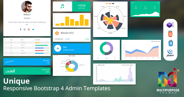 Dashboard Admin Templates – Build Better Application With Unique Admin