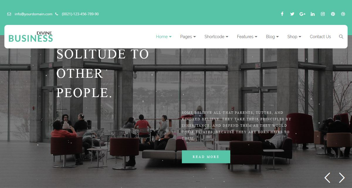 Divine Pro Business HTML Template – One Page Parallax