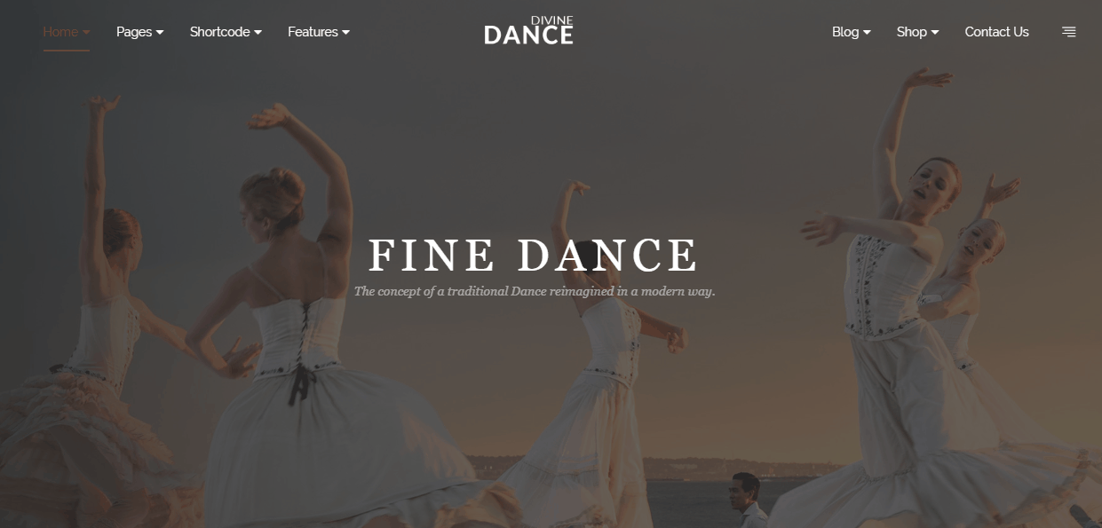 Divine Pro Dance HTML Templates – One Page Parallax