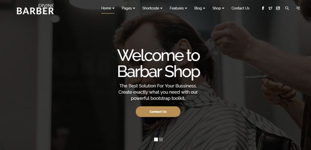 Divine Pro Barber One Page Parallax HTML Template