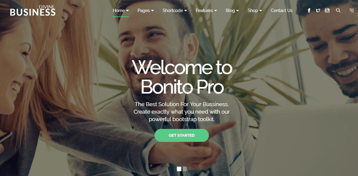 Divine Pro Business – One Page Parallax HTML Template