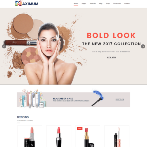 Cosmetic Woo-Commerce Themes