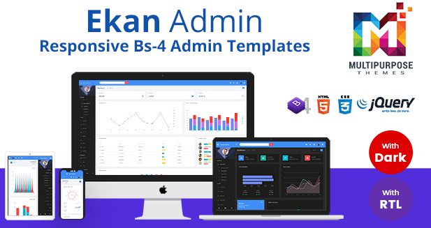Bootstrap Admin Templates With Dark Dashboard – Ekan Admin