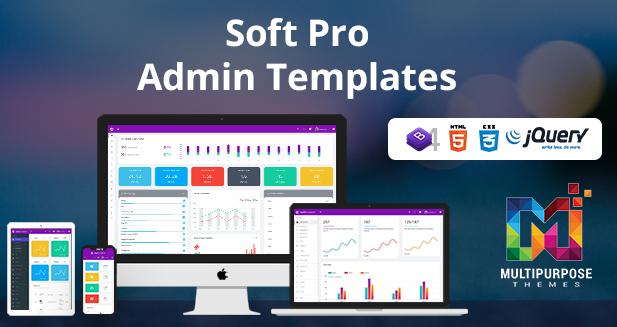 Bootstrap Admin Template Dashboard – Soft Pro Admin