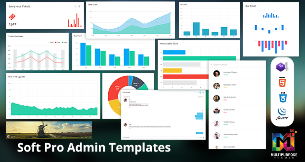 Soft Pro Dashboard 3 Admin Templates Bootstrap