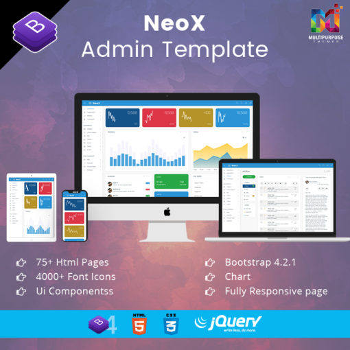 NeoX – Responsive Admin Dashboard Template