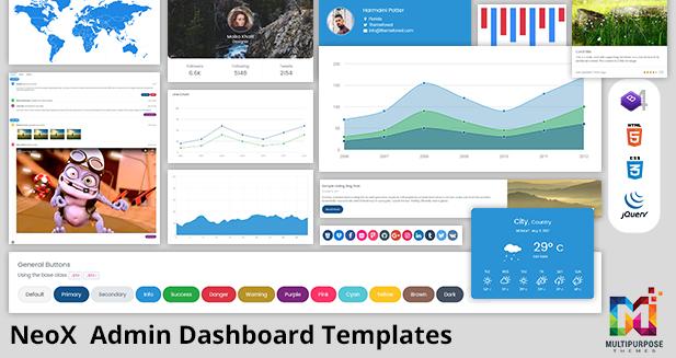 Multipurpose Bootstrap Admin Templates – NeoX