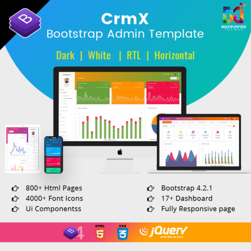 CrmX Admin – Bootstrap Admin Dashboard Template