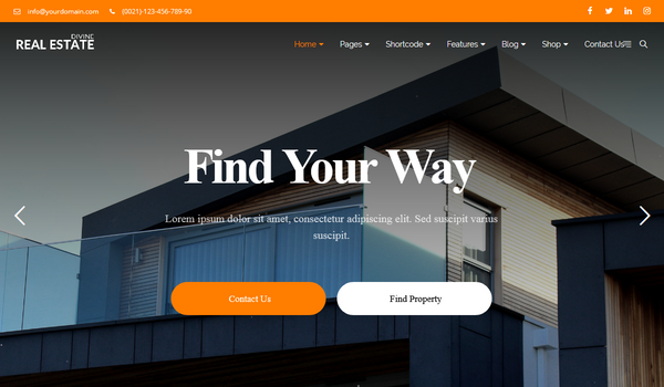Divine Pro Real Estate Multipurpose Html Template – One Page Parallax