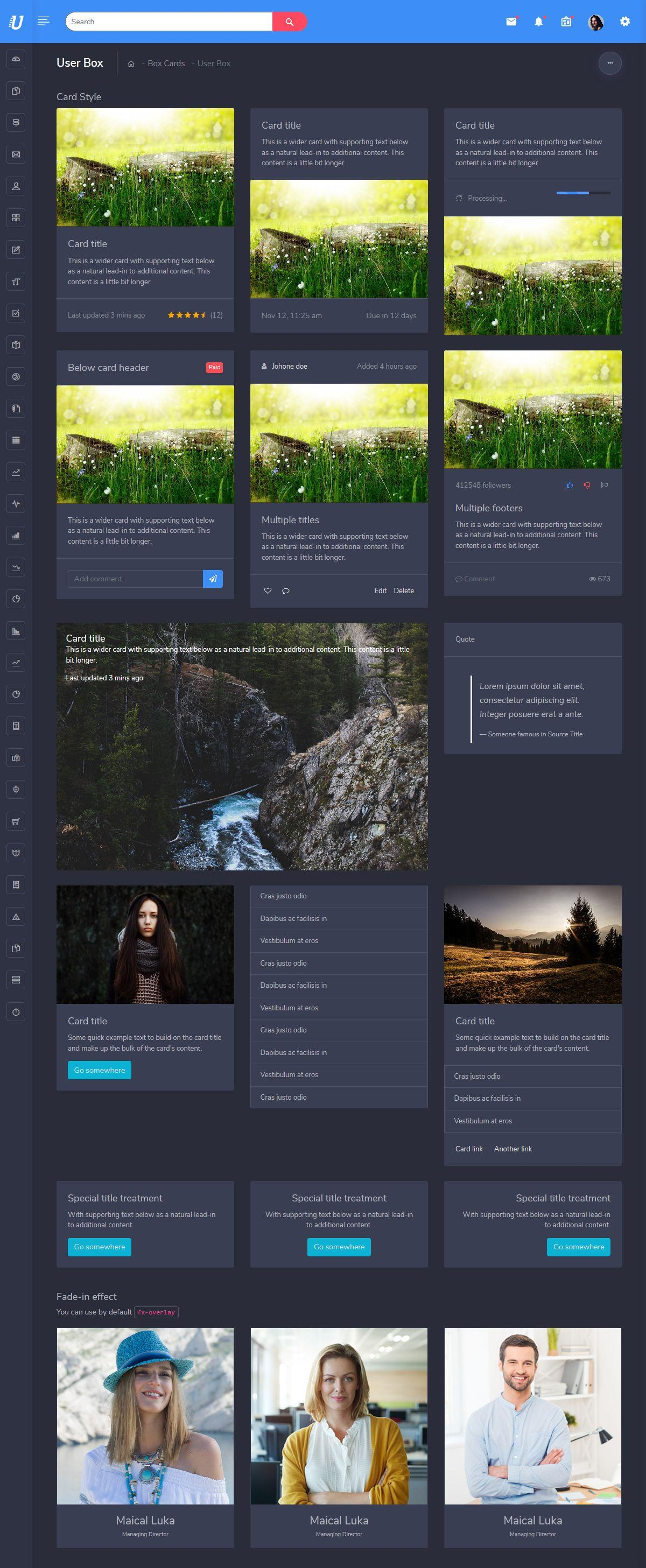 ootstrap Admin Template