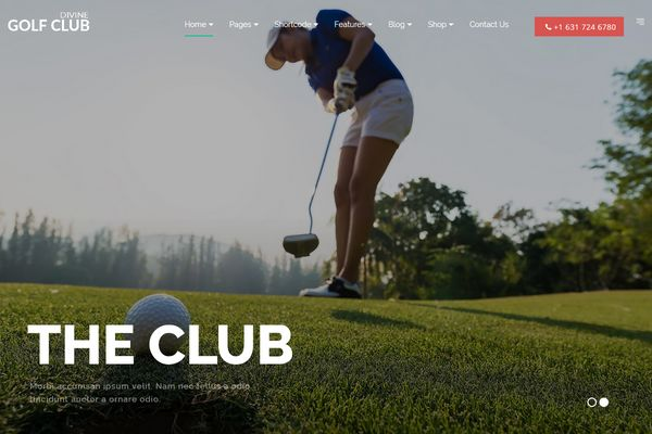 Divine Pro Golf Club One Page Parallax HTML Template