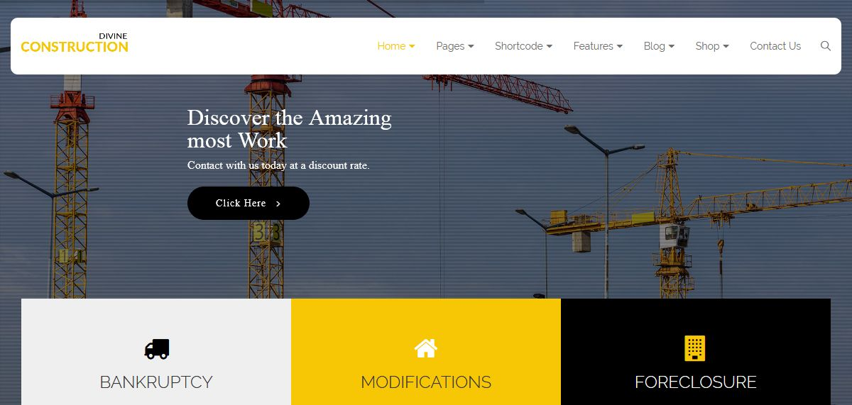 Divine Pro Construction One Page Parallax HTML Template