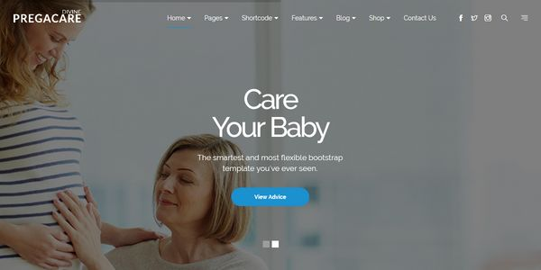 One Page Parallax – Divine Pro Pregnancy Medical Premium HTML Template