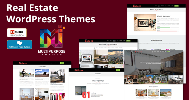 Premium Real Estate Responsive WordPress Themes By MultiPurpose Themes.  35+ Homepage Demo Included. Find The Perfect Fit From This Best Real Estate WordPress Themes To Create Your Own Real Estate Website In 2019.