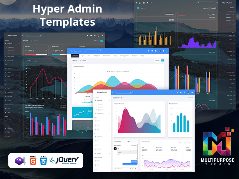 Hyper Horizontal Admin Dashboard Template