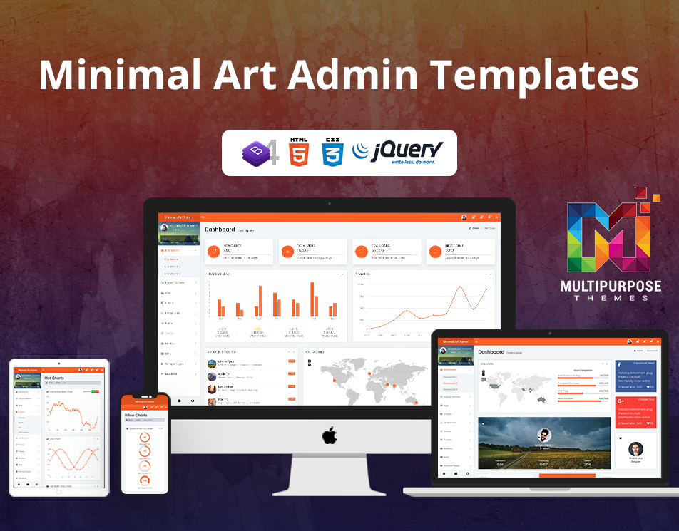 Minimal Art Admin Dashboard Template