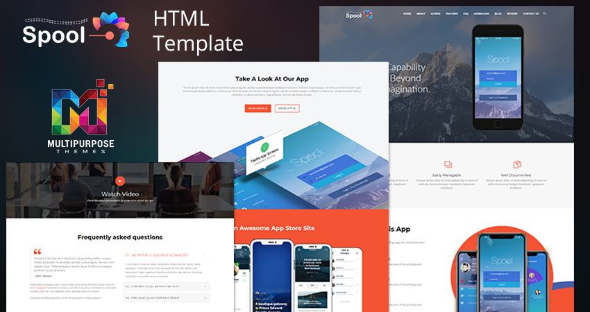 Spool Premium Html Template – One Page Parallax