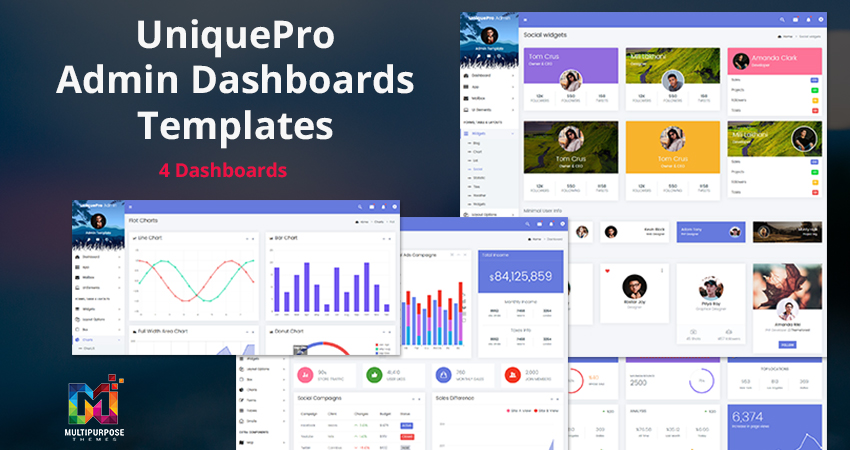 UniquePro – Premium Dashboard Admin Template