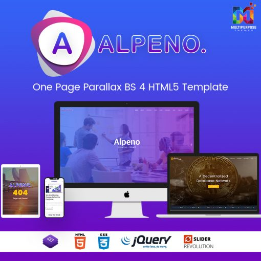 Alpeno – One Page Parallax HTML Template