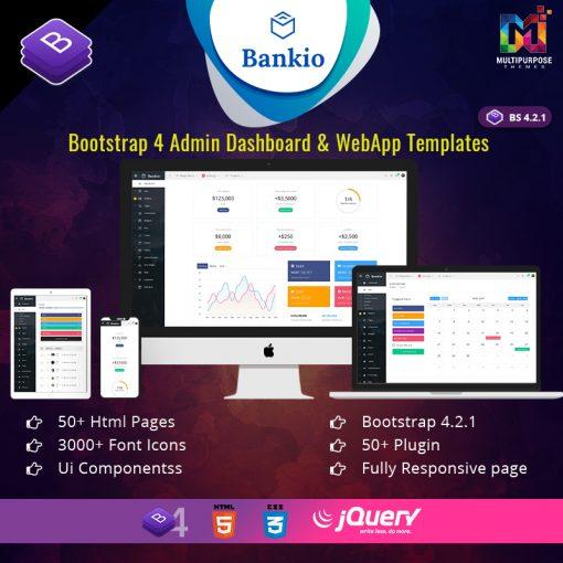 Bankio – Bootstrap 4 Dashboard Admin Template