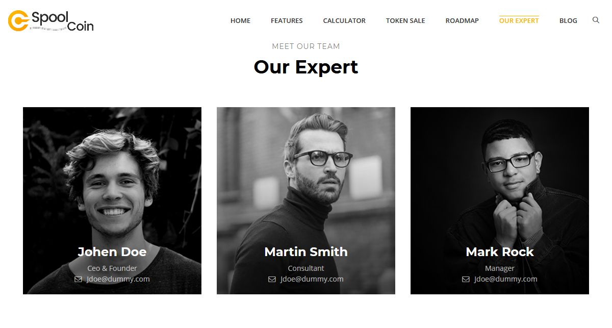 One Page Parallax HTML Template