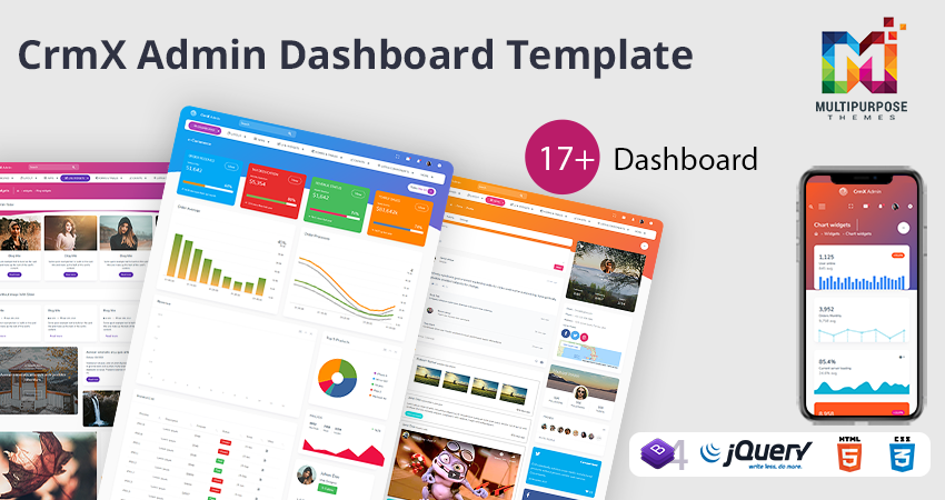 CrmX ECommerce Bootstrap Admin Template