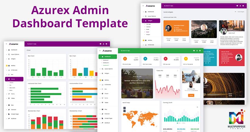 Azurex Bootstrap Admin Template & Dashboard