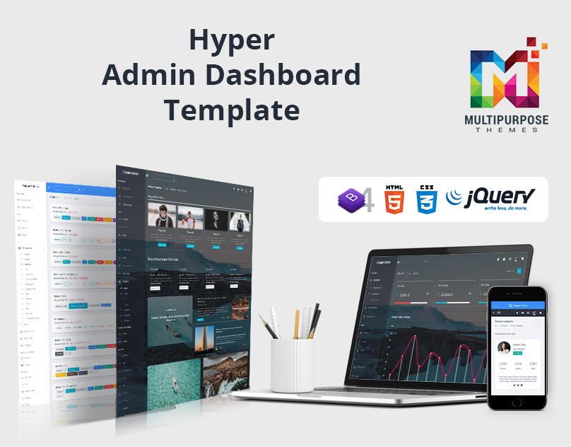 Hyper Admin Dashboard Template For Multipurpose