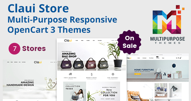 Claui Responsive MultiStore OpenCart Theme
