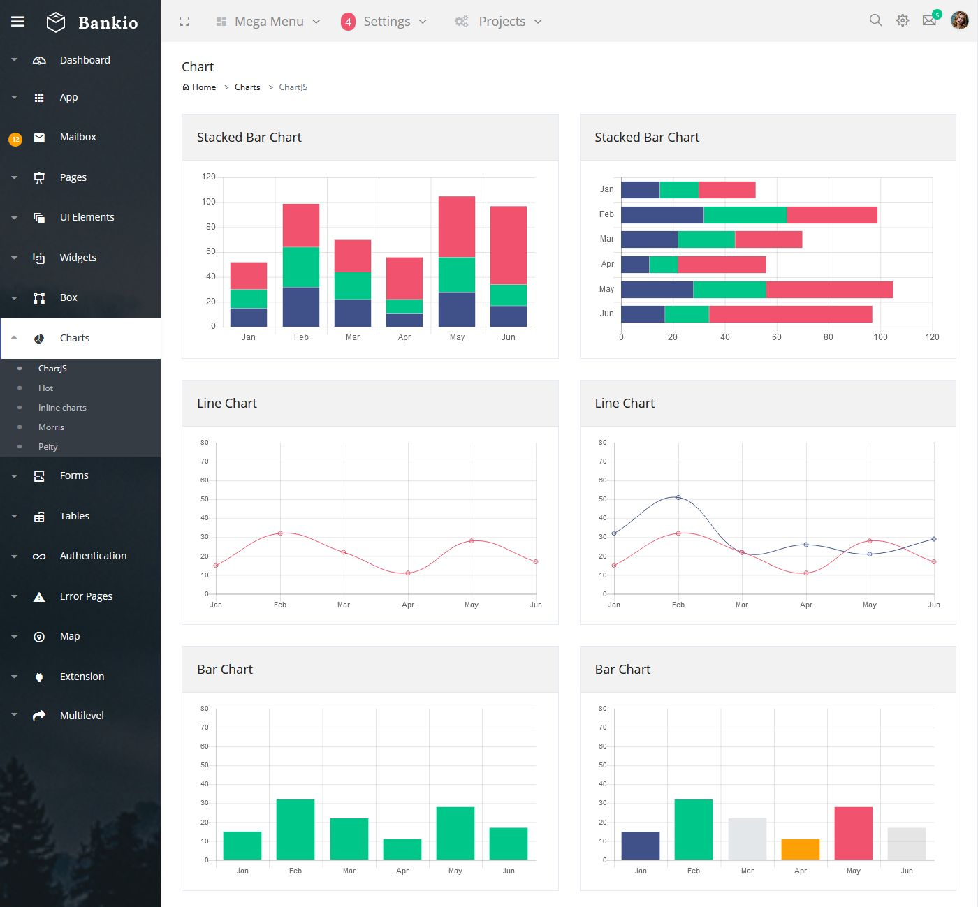 Responsive Admin Dashboard Template