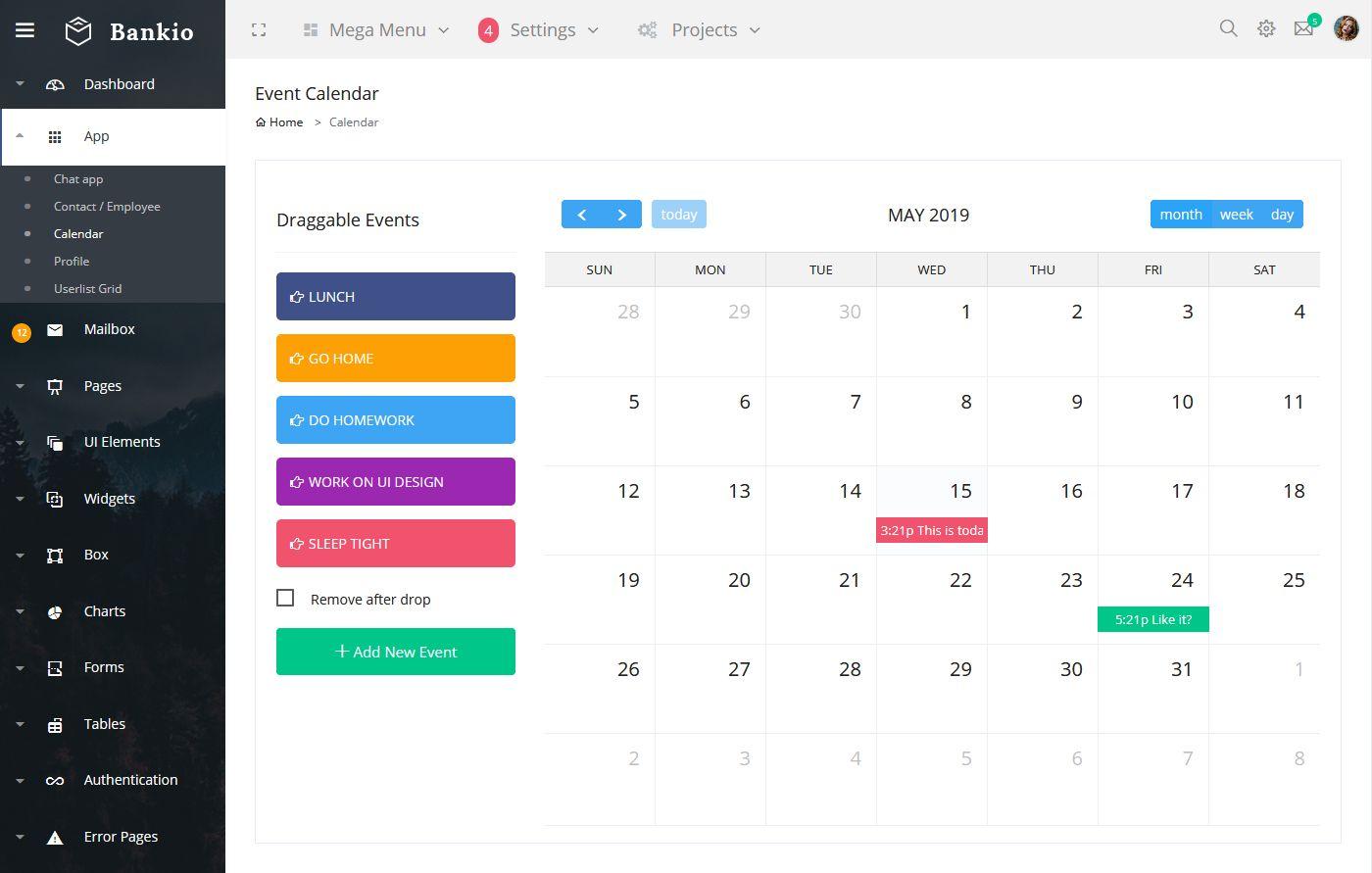 Bootstrap Admin Web App
