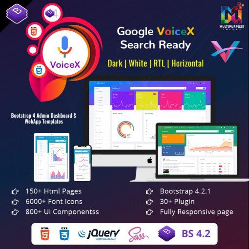 VoiceX Admin – Bootstrap Admin Dashboard Template