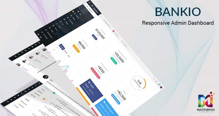 Bankio Responsive Admin Dashboard