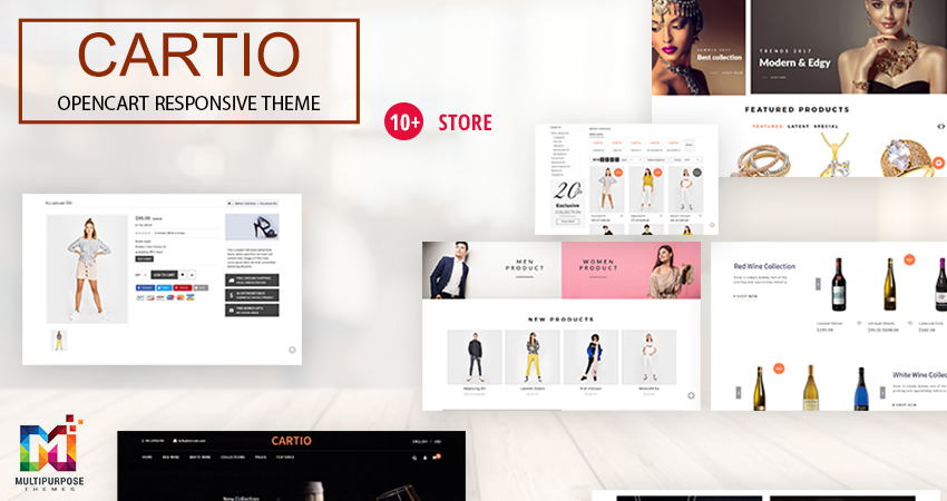 Cartio MultiPurpose E-Commerce OpenCart Themes