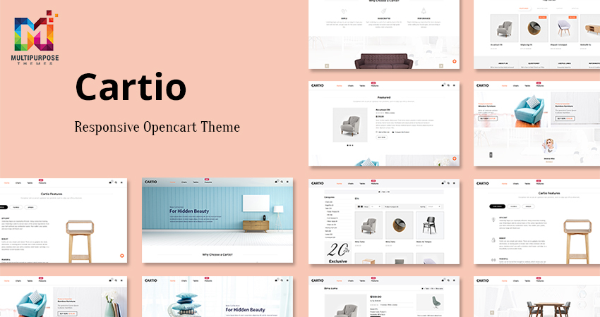 Cartio Furniture Opencart Responsive Theme
