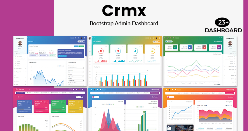CrmX ECommerce Admin Dashboard UI Kit