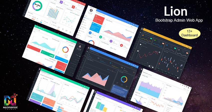 Lion Boxed Responsive Admin Dashboard Template