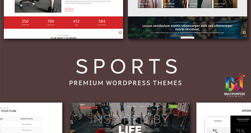 Sports Premium WordPress Themes By MultiPurpose Themes
